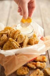 fried dill pickles! OMG! - 300 Tailgating Recipes - RecipePin.com