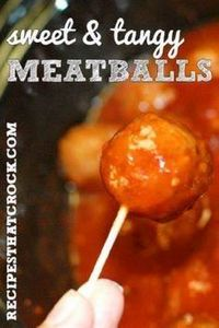 Sweet and Tangy Meatballs- So easy - 300 Tailgating Recipes - RecipePin.com