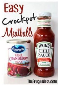 Easy Crockpot Meatballs. They're s - 300 Tailgating Recipes - RecipePin.com