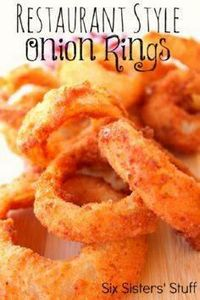 Restaurant Style Onion Rings from  - 300 Tailgating Recipes - RecipePin.com