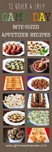 Bite-sized game day appetizers. #m - 300 Tailgating Recipes - RecipePin.com