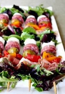 Antipasto Salad Kebabs..love thes - 300 Tailgating Recipes - RecipePin.com