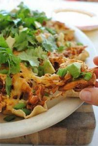 slow cooker chicken nachos... - 300 Tailgating Recipes - RecipePin.com