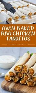 Oven Baked Barbecue Chicken Taquit - 300 Tailgating Recipes - RecipePin.com