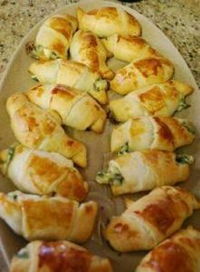 Cresent Rolls  spinach, feta and m - 300 Tailgating Recipes - RecipePin.com