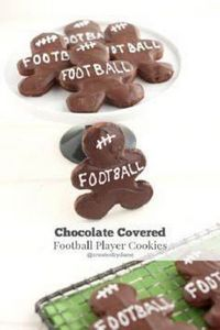 Chocolate Football Player Cookies - 300 Tailgating Recipes - RecipePin.com