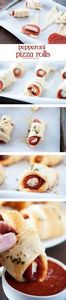 Easy to make pepperoni pizza rolls - 300 Tailgating Recipes - RecipePin.com