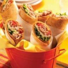 Tuna wraps - 140 Canned Tuna Recipes - RecipePin.com