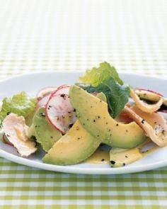 Tuna, Avocado, and Romaine Salad - 140 Canned Tuna Recipes - RecipePin.com
