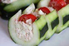 healthy tuna salad cucumber boat,  - 140 Canned Tuna Recipes - RecipePin.com