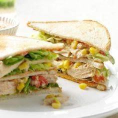 Tuna Club Sandwiches with Roasted  - 140 Canned Tuna Recipes - RecipePin.com