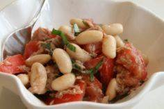 Tuna, Tomato, Bean and Basil Salad - 140 Canned Tuna Recipes - RecipePin.com