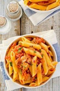 Tomato and Tuna Pasta - 140 Canned Tuna Recipes - RecipePin.com