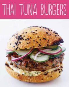 Thai Tuna Burgers - 140 Canned Tuna Recipes - RecipePin.com