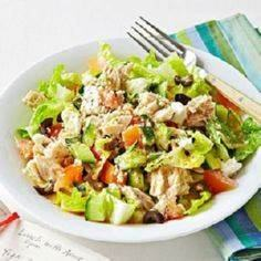 Greek Salad with Tuna In a large b - 140 Canned Tuna Recipes - RecipePin.com