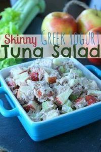 Healthy Tuna Salad with Greek Yogu - 140 Canned Tuna Recipes - RecipePin.com