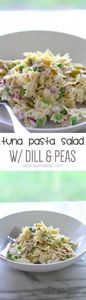 Tuna Pasta Salad with Dill and Pea - 140 Canned Tuna Recipes - RecipePin.com