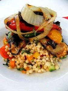 couscous salad topped with grilled - 385 Veggie Swaps Recipes - RecipePin.com
