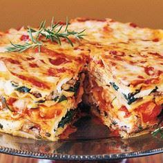 This layered beauty is stacked wit - 385 Veggie Swaps Recipes - RecipePin.com