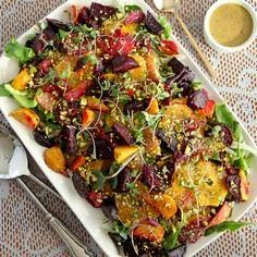Roasted Beet and Citrus Salad with - 385 Veggie Swaps Recipes - RecipePin.com
