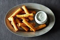 Chickpea Fries with Yogurt Dipping - 385 Veggie Swaps Recipes - RecipePin.com