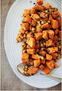 Spiced Sweet Potatoes and Chickpea - 385 Veggie Swaps Recipes - RecipePin.com