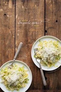 Shaved Brussels Sprout Salad - 385 Veggie Swaps Recipes - RecipePin.com