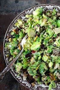 Cal-Style Shaved Brussels Sprouts  - 385 Veggie Swaps Recipes - RecipePin.com