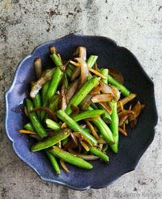 Stir Fried Green Beans with Ginger - 385 Veggie Swaps Recipes - RecipePin.com