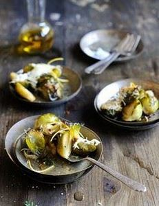 Baked Brussels Sprouts with Shaved - 385 Veggie Swaps Recipes - RecipePin.com